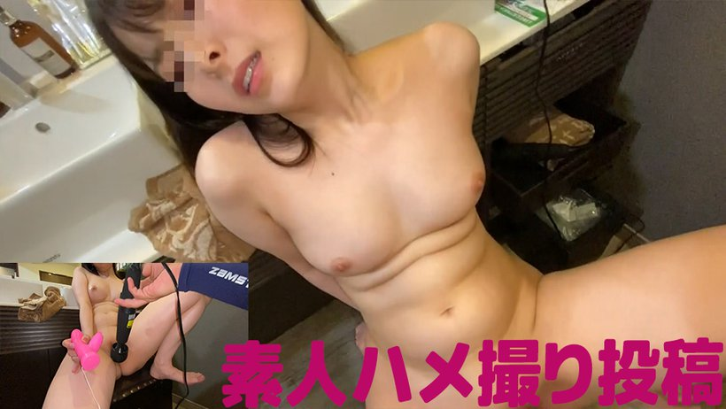 [Full Bokki On Crispy Nipples! ] Shame Play In Front Of The Mirror To A Shaved Amateur Girl With Long Black Hair! Raw Vaginal Cum Shot! !!